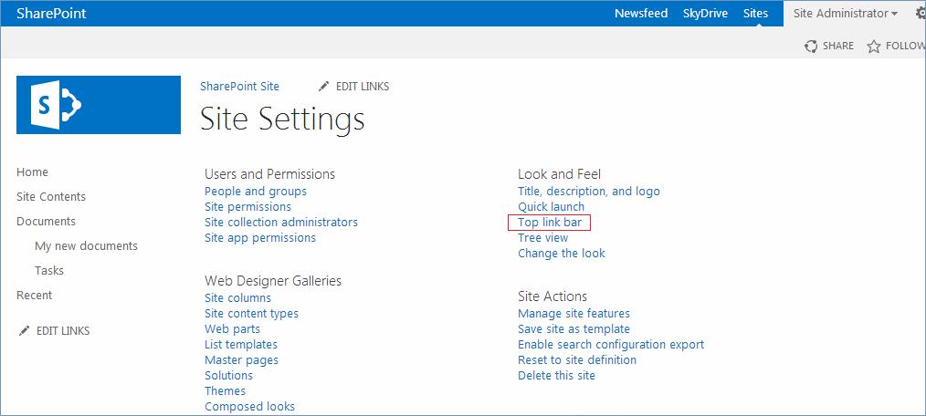 Sharepoint Top Link Bar 28 Images Restore Navigate Up