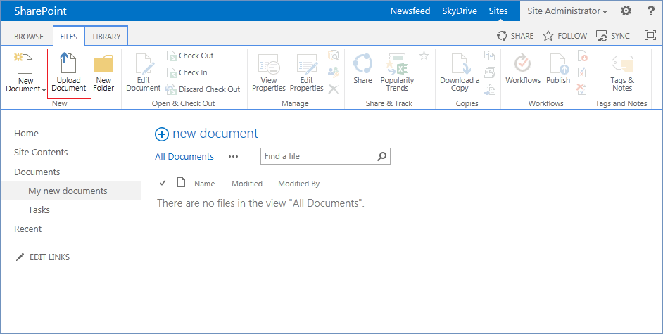 how to upload multiple documents to a sharepoint 2013 site With upload documents sharepoint 2013