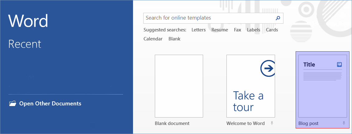 How to publish a SharePoint blog article via Microsoft Word 2013 ...
