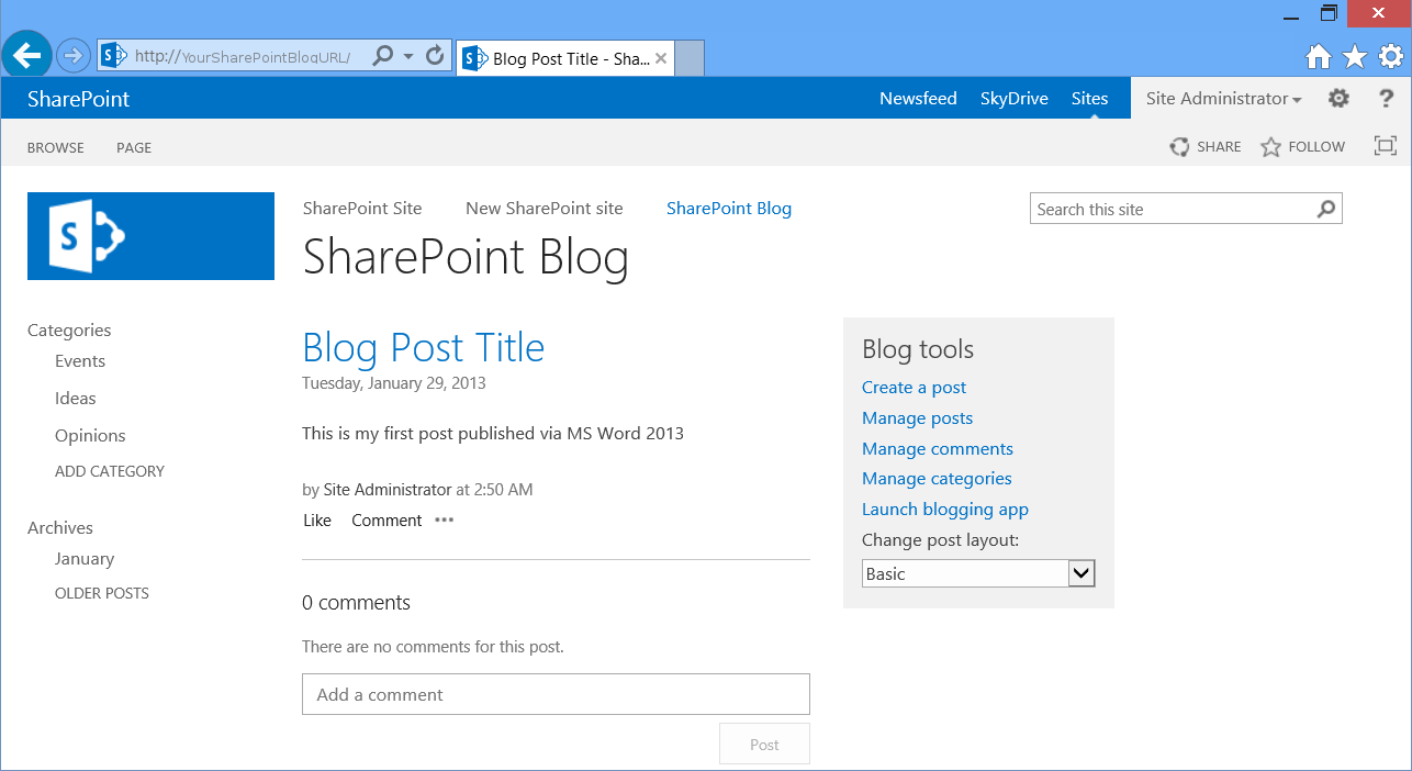 microsoft kb article template - sharepoint 2013 blog template gallery professional
