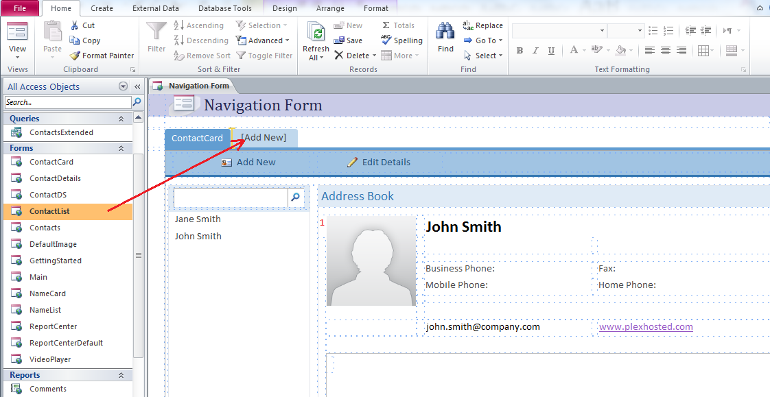 How to create a new navigation form in Access 2010 and set it as ...