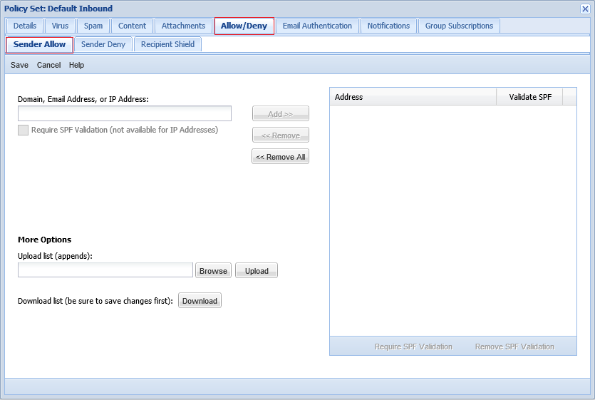 How to create a Policy Whitelist at the McAfee Control Console